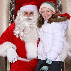 Chelsea Best with Santa